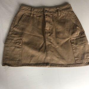 Never worn. pacsun khaki mini skirt.